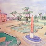 48 Acuarela Villa Medici
