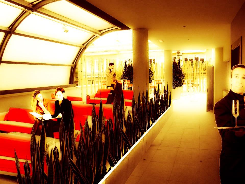 Cafeteria solárium en hotel