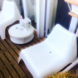 Pequeña terraza en piso estilo Chill Out