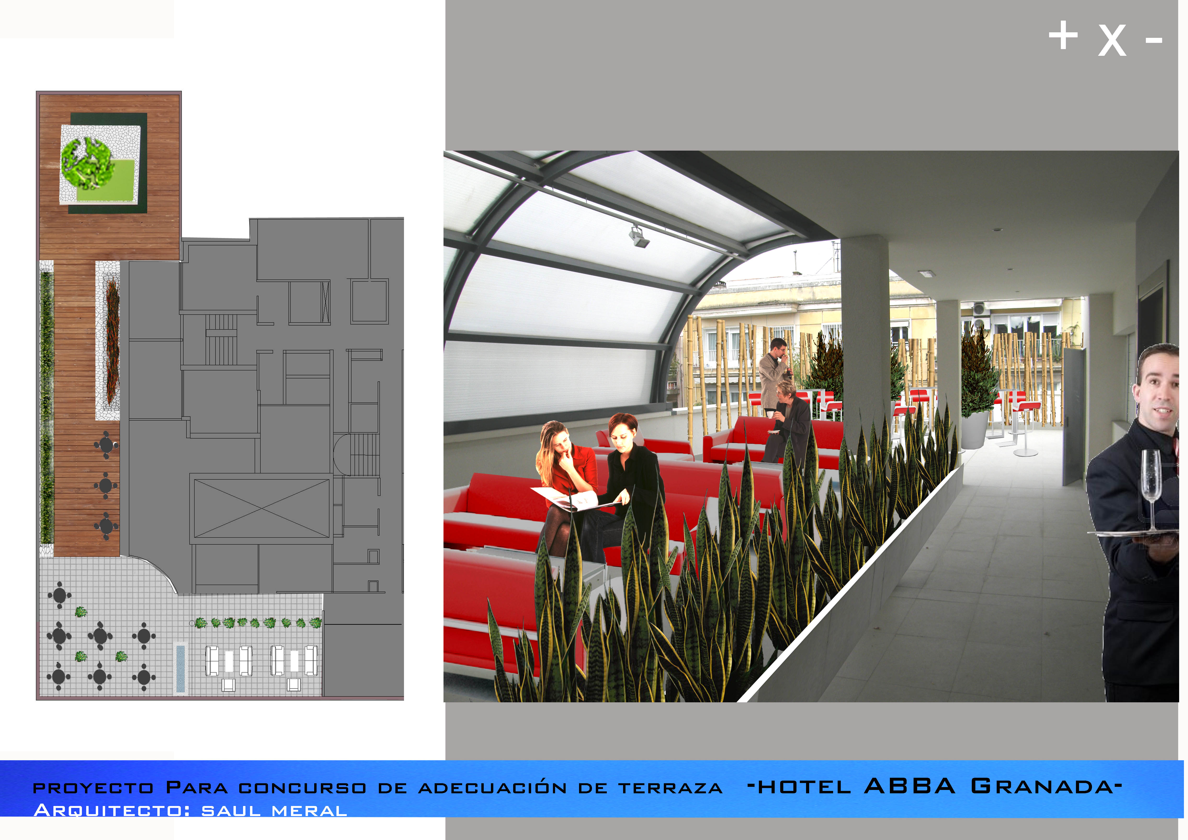 Terraza Hotel ABBA granada 1