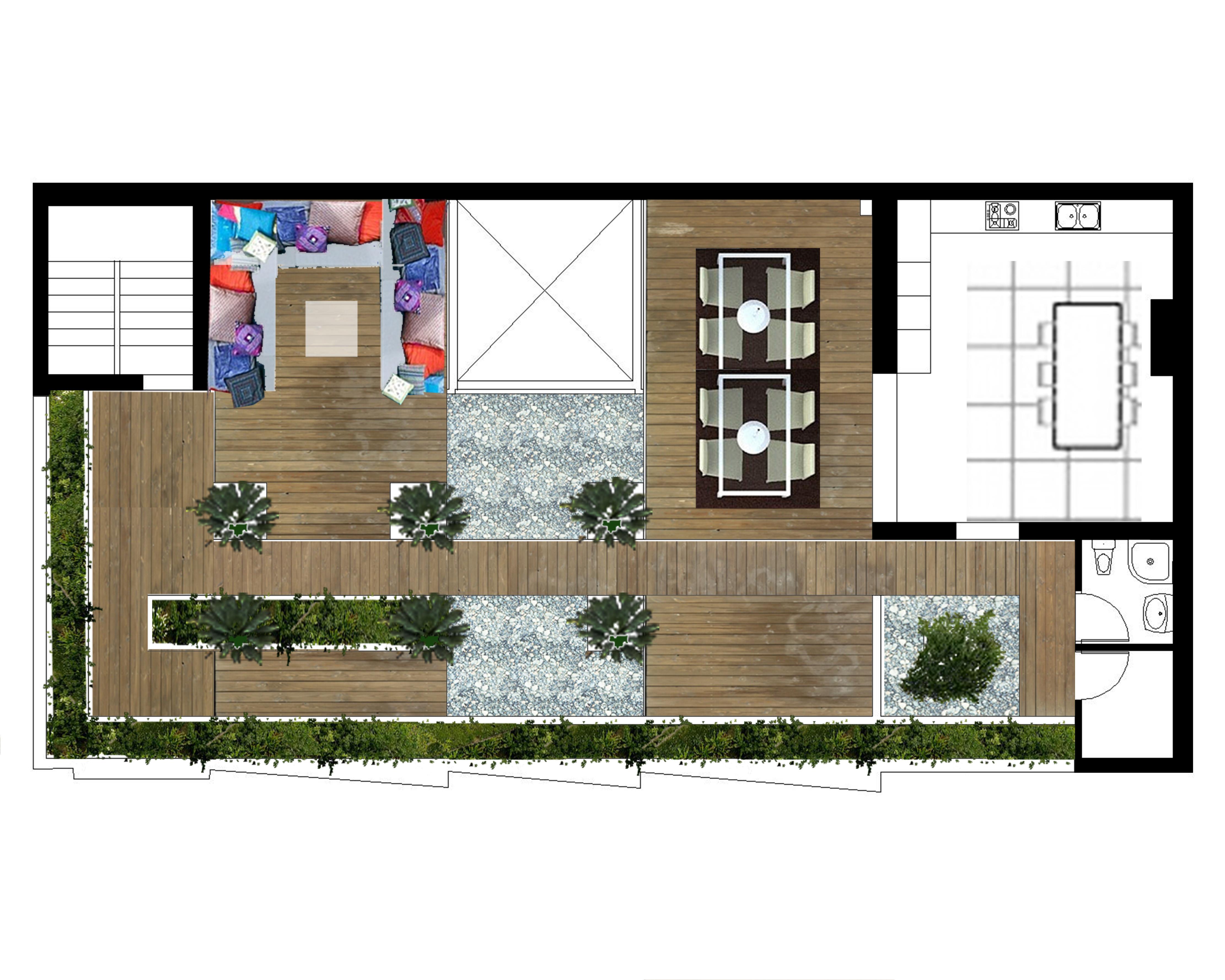 Terrazas studio3 arquitectura paisaje dise o - Plantas para terrazas con mucho sol ...