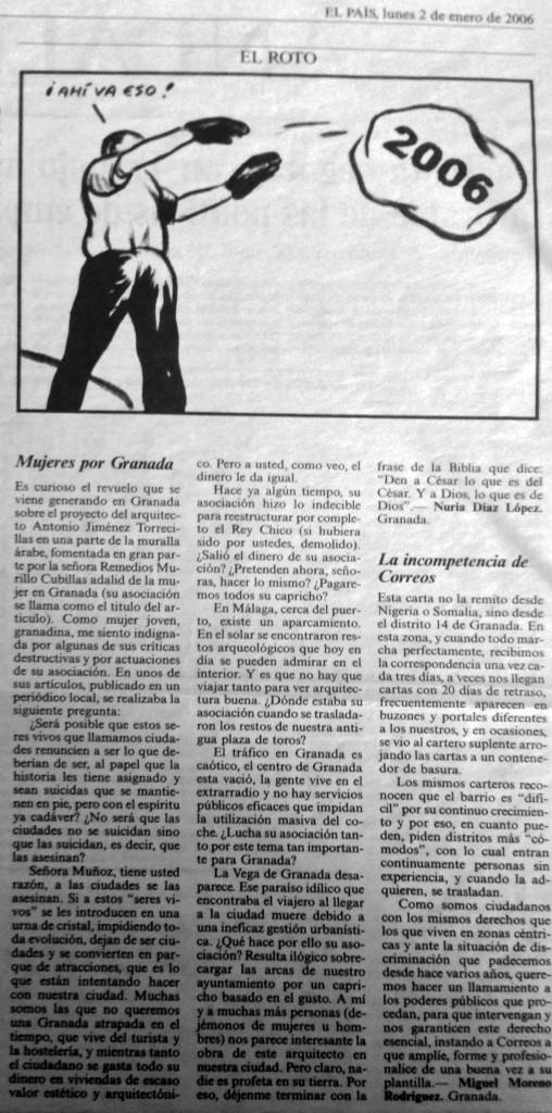 Carta a Favor de la actuación de Antonio Jimenez Torrecillas en la muralla Cirí
